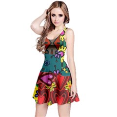 Patchwork Collage Reversible Sleeveless Dress by Simbadda