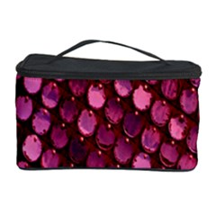 Red Circular Pattern Background Cosmetic Storage Case by Simbadda