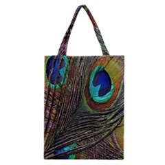 Peacock Feathers Classic Tote Bag
