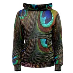 Peacock Feathers Women s Pullover Hoodie by Simbadda