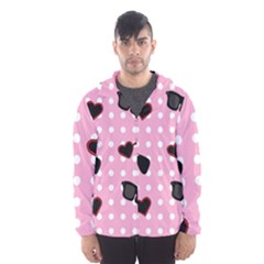 Pisunglass Tech Pink Pattern Hooded Wind Breaker (men) by Simbadda