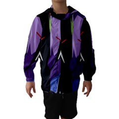 Monster Face Drawing Paint Hooded Wind Breaker (kids) by Simbadda