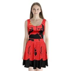 Lenin  Split Back Mini Dress  by Valentinaart