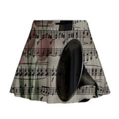 Vintage Music Design Mini Flare Skirt by Valentinaart
