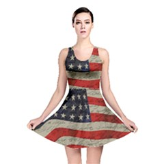 Vintage American Flag Reversible Skater Dress by Valentinaart
