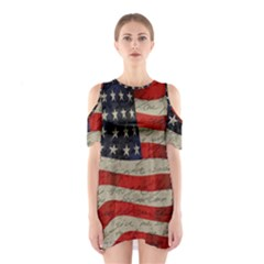 Vintage American Flag Shoulder Cutout One Piece by Valentinaart