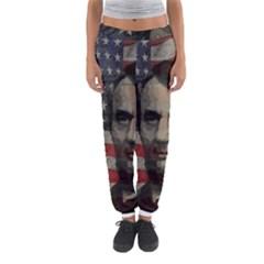 Lincoln Day  Women s Jogger Sweatpants by Valentinaart