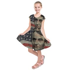 Lincoln Day  Kids  Short Sleeve Dress by Valentinaart