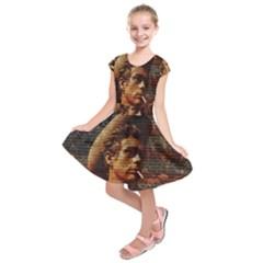 James Dean   Kids  Short Sleeve Dress by Valentinaart