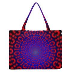 Binary Code Optical Illusion Rotation Medium Zipper Tote Bag