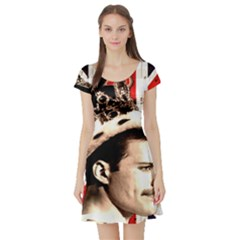 Freddie Mercury Short Sleeve Skater Dress by Valentinaart