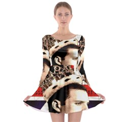 Freddie Mercury Long Sleeve Skater Dress by Valentinaart