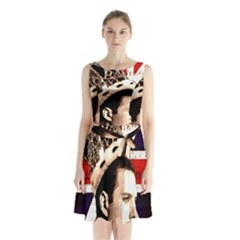 Freddie Mercury Sleeveless Chiffon Waist Tie Dress by Valentinaart