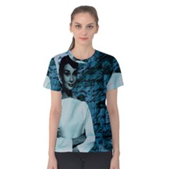Audrey Hepburn Women s Cotton Tee by Valentinaart