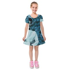 Audrey Hepburn Kids  Short Sleeve Velvet Dress by Valentinaart