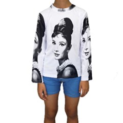 Audrey Hepburn Kids  Long Sleeve Swimwear by Valentinaart
