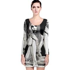 Stone Girl Long Sleeve Velvet Bodycon Dress by Valentinaart