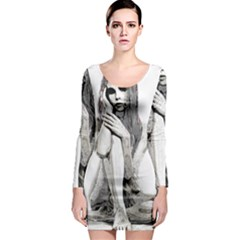 Stone Girl Long Sleeve Bodycon Dress by Valentinaart