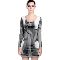 Stone Angel Long Sleeve Bodycon Dress by Valentinaart