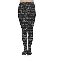 Handwriting  Women s Tights by Valentinaart