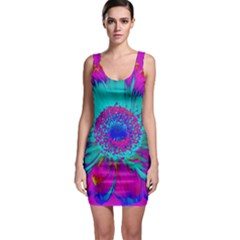 Retro Colorful Decoration Texture Sleeveless Bodycon Dress