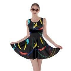 Yellow Blue Red Arcs Light Skater Dress