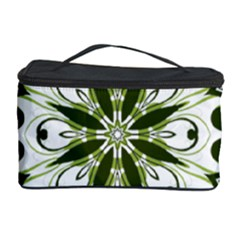 Frame Flourish Flower Green Star Cosmetic Storage Case by Alisyart