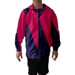 Pink Pattern Hooded Wind Breaker (kids) by Simbadda