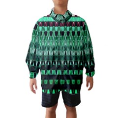 Green Triangle Patterns Wind Breaker (kids) by Simbadda