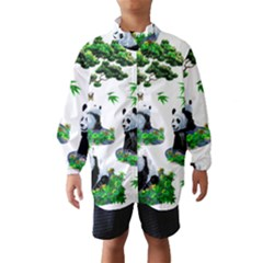 Cute Panda Cartoon Wind Breaker (kids) by Simbadda