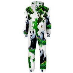 Cute Panda Cartoon Hooded Jumpsuit (men)  by Simbadda