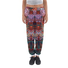 Modern Abstract Geometric Art Rainbow Colors Women s Jogger Sweatpants by CrypticFragmentsColors