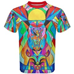 Arcturian Metamorphosis Grid - Men s Cotton Tee by tealswan