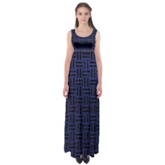 Woven1 Black Marble & Blue Leather (r) Empire Waist Maxi Dress by trendistuff