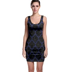 Tile1 Black Marble & Blue Leather Bodycon Dress by trendistuff