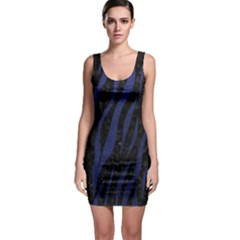 Skin3 Black Marble & Blue Leather Bodycon Dress by trendistuff