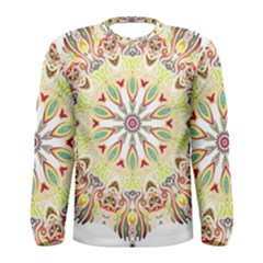 Intricate Flower Star Men s Long Sleeve Tee by Alisyart