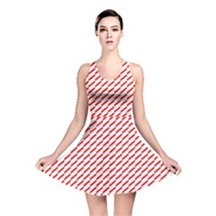 Pattern Red White Background Reversible Skater Dress by Simbadda