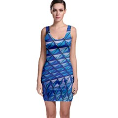 Lines Geometry Architecture Texture Sleeveless Bodycon Dress by Simbadda