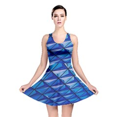 Lines Geometry Architecture Texture Reversible Skater Dress by Simbadda