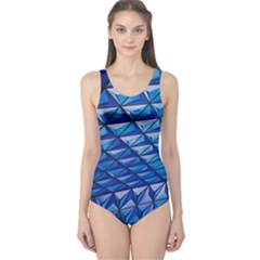 Lines Geometry Architecture Texture One Piece Swimsuit by Simbadda