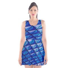 Lines Geometry Architecture Texture Scoop Neck Skater Dress by Simbadda