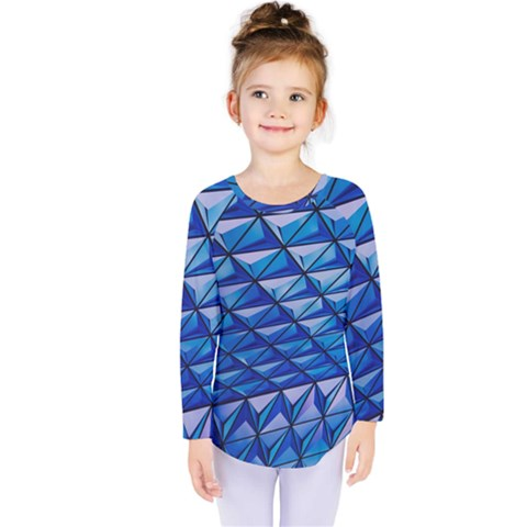 Lines Geometry Architecture Texture Kids  Long Sleeve Tee by Simbadda