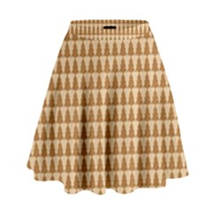 Pattern Gingerbread Brown High Waist Skirt by Simbadda