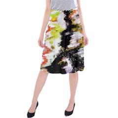 Canvas Acrylic Digital Design Midi Beach Skirt by Simbadda