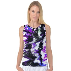Canvas Acrylic Digital Design Women s Basketball Tank Top by Simbadda