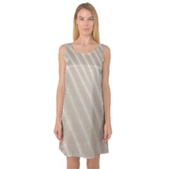 Sand Pattern Wave Texture Sleeveless Satin Nightdress by Simbadda