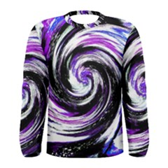Canvas Acrylic Digital Design Men s Long Sleeve Tee by Simbadda