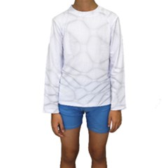 Line Stone Grey Circle Kids  Long Sleeve Swimwear by Alisyart
