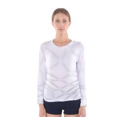 Line Stone Grey Circle Women s Long Sleeve Tee by Alisyart